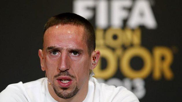 Francouzský fotbalista Franck Ribéry na vyhlášení Zlatého míče 2013.