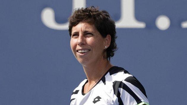 Carla Suárezová ve svém posledním grandslamovém zápase.