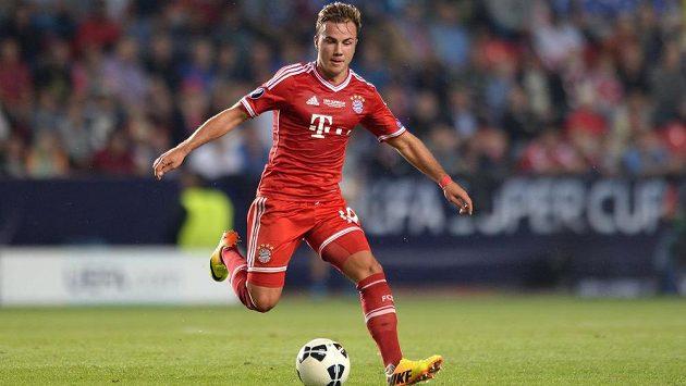 Záložník Bayernu Mnichov Mario Götze.