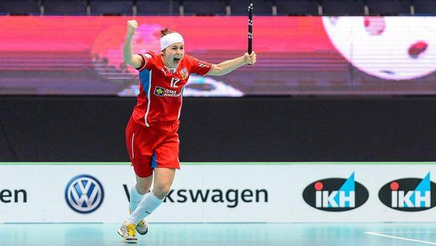 Radost Hany Koníčkové po gólu do švédské sítě.