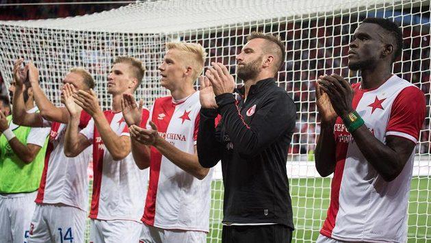 Fotbalisté Slavie po utkání 3. předkola Ligy mistrů s Bate Borisov, které vyhráli 1:0. Bude jim v odvetě náskok stačit?