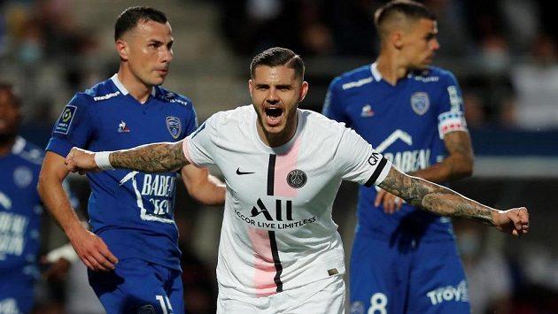 Argentinský útočník Mauro Icardi vystřelil pro PSG výhru v utkání 1. kola francouzské ligy.
