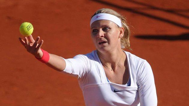 Lucie Šafářová ve Španělsku během fedcupového duelu s domácí reprezentací.