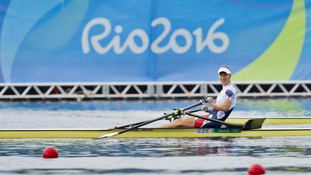 Miroslava Knapková Topinková v cíli olympijského závodu.