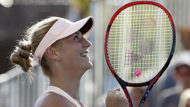 Marta Kosťuková měla z vítězství velkou radost.