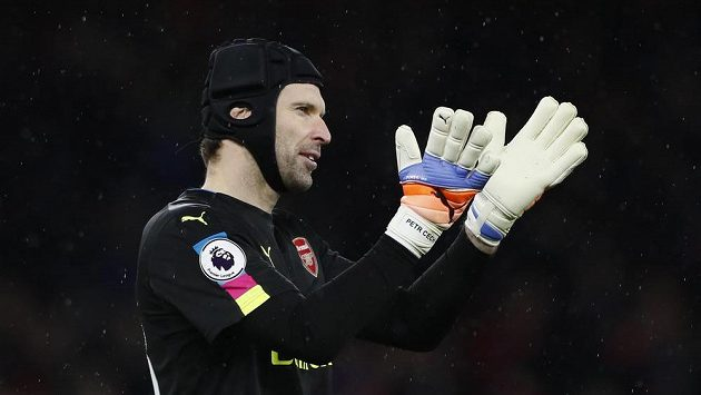 Petr Čech po výhře Arsenalu nad Crystal Palace.