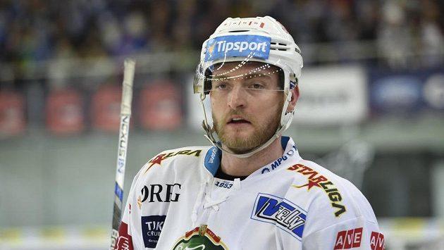 Martin Dočekal, střelec všech tří gólů Komety proti Chomutovu.