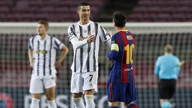 Christiano Ronaldo a Lionel Messi.