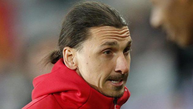 Švédská hvězda Manchesteru United Zlatan Ibrahimovič.