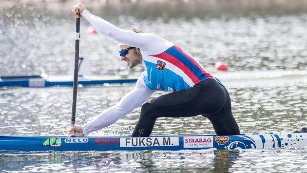 Kanoista Martin Fuksa na mistrovství světa v Račicích.
