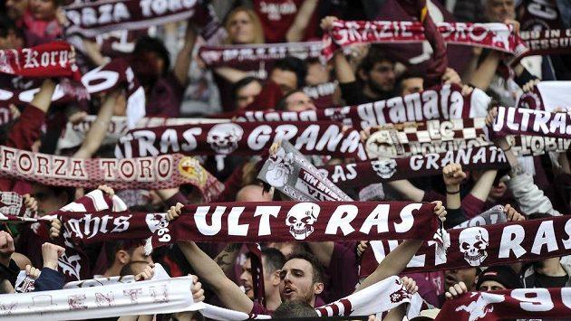 Fanoušci italského týmu FC Turín. Ilustrační foto.
