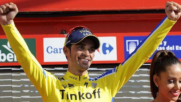 Alberto Contador po jedné z etap letošní Vuelty.