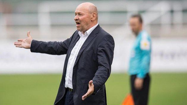 Trenér Bohemians Miroslav Koubek během utkání 7. kola ePojištění.cz s Duklou Praha.