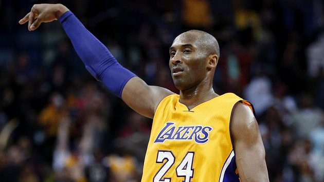 Hvězda Los Angeles Lakers Kobe Bryant v zápase proti New Orleans Pelicans.