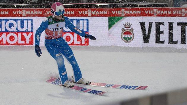 Roman Koudelka při tréninku na Turné čtyř můstků v Oberstdorfu.