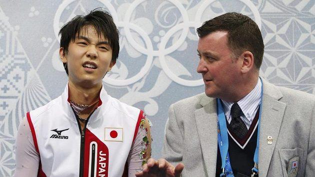 Kanadský kouč se svým japonským svěřencem Juzurem Hanju.