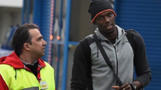 Alfons Juck (vlevo) s Usainem Boltem před letošním ročníkem Zlaté tretry.