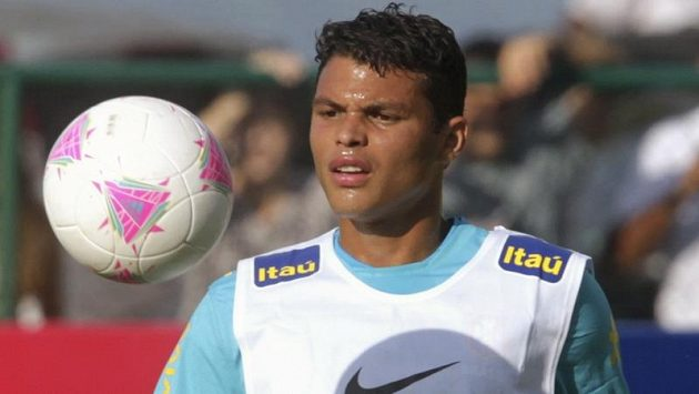 Brazilský obránce Thiago Silva.