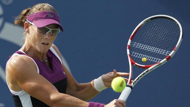 Australanka Samantha Stosurová se v prvním kole letošního US Open na kurtu dlouho nezdržela