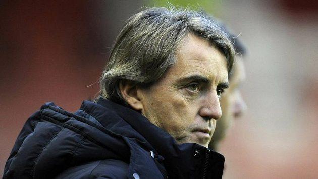 Zklamaný kouč Manchesteru City při utkání v Sunderlandu.