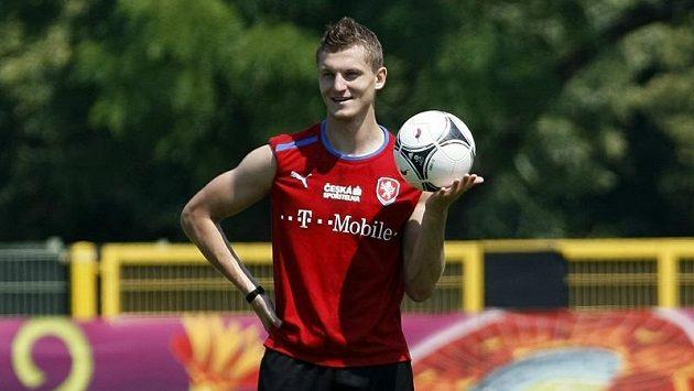 Tomáš Necid na tréninku.