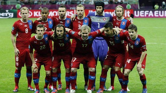 Český národní tým během ME 2012 v Polsku.