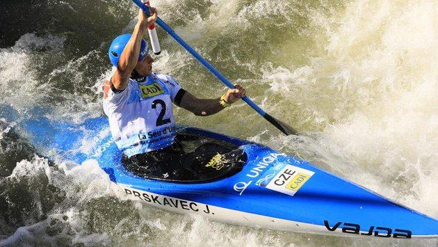 Čerstvý mistr světa ve vodním slalomu Jiří Prskavec.