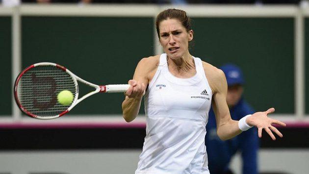 Němka Andrea Petkovicová během finále Fed Cupu v Praze.