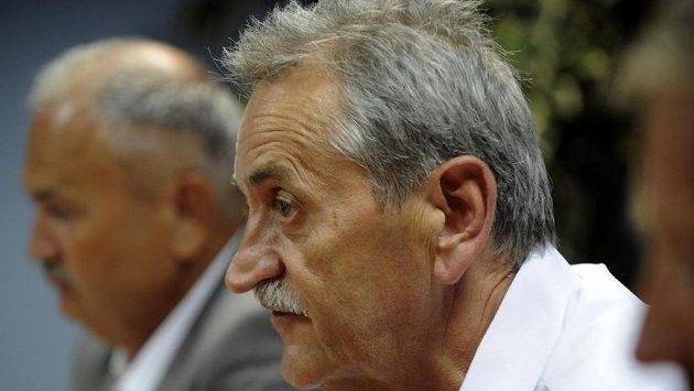 Zleva ředitel FK Teplice František Hrdlička a předseda představenstva severočeského klubu Pavel Šedlbauer.