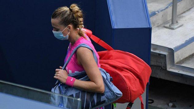 Petra Kvitová po vyřazení z US Open.