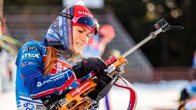 Gabriela Soukalová už trénuje v mrazivém Chanty-Mansijsku.