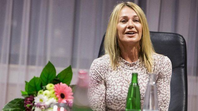Gymnastická legenda Nadia Comaneciová při své návštěvě Prahy.