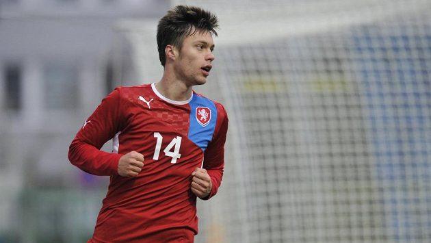 Václav Kadlec dal jediný gól české reprezentace do 21 let proti Ukrajině.
