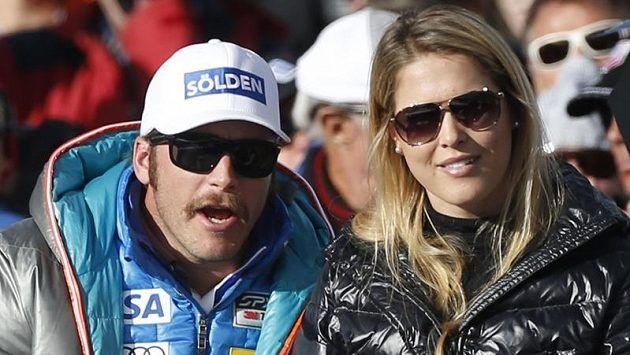 Američan Bode Miller (vlevo) se svou ženou Morgan Beckovou.