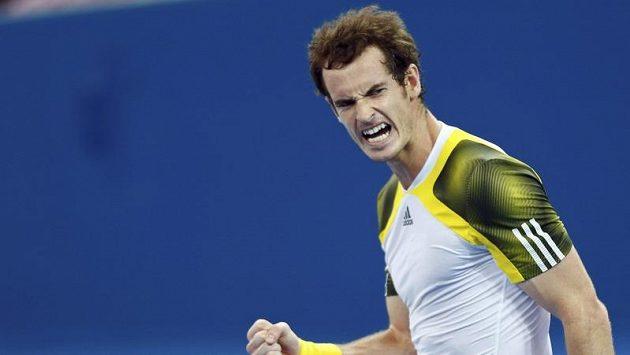 Murrayho oslavné gesto v zápase s Dimitrovem.
