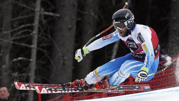 Americký lyžař Travis Ganong vyhrál sjezd Světového poháru v Santa Caterině.