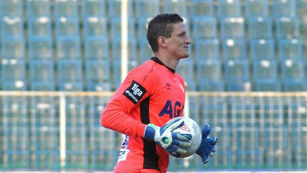 Teplický brankář Tomáš Grigar.