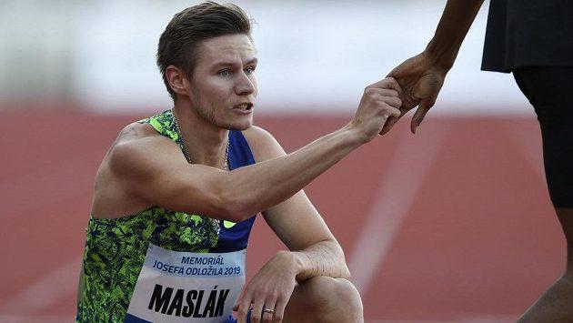 Český běžec Pavel Maslák.