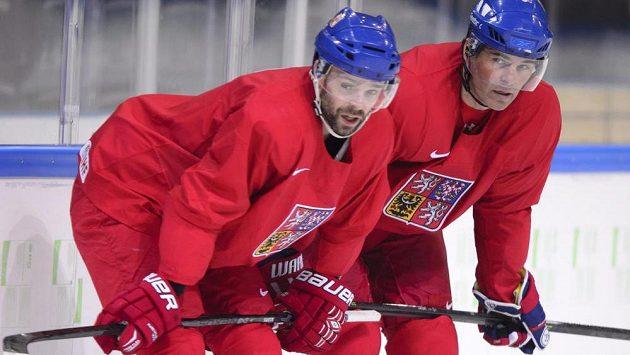 Jakub Klepiš (vlevo) a Jaromír Jágr už spolu odehráli spoustu zápasů, takže teď už jen potřebují oprášit staré návyky.