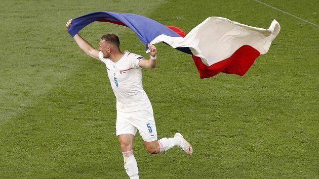 Radost Vladimíra Coufala po zápase.