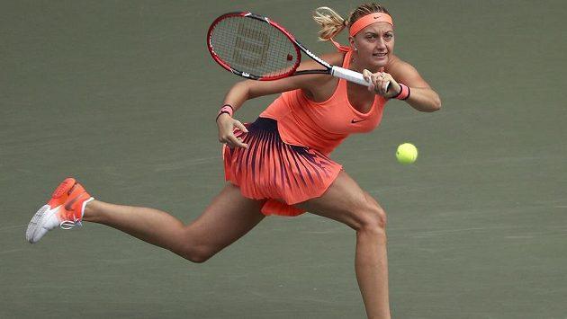 Petra Kvitová v zápase s Portoričankou Mónicou Puigovou.
