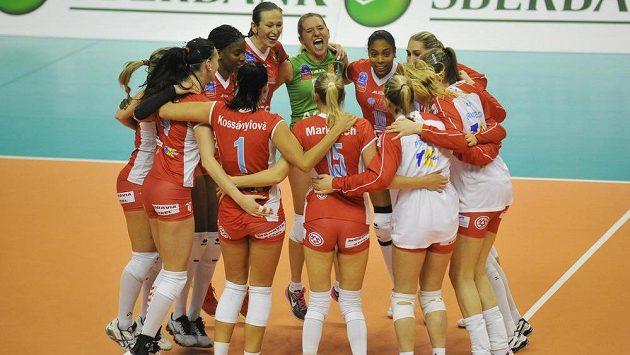 Volejbalistky Prostějova se v Lize mistrů radují z vítězství nad Baku.