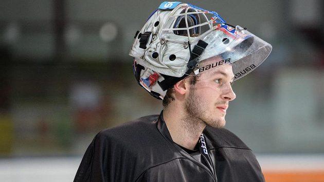 Marek Mazanec během tréninku hokejové reprezentace.
