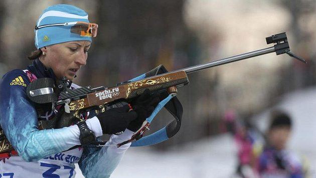 Vita Semerenková získala jedinou ukrajinskou medaili v Soči - bronz ze biatlonového sprintu.