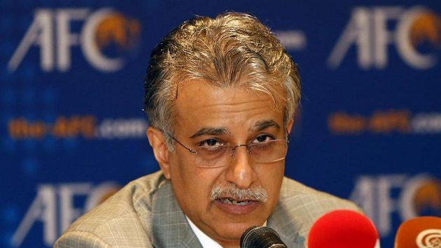 Bahrajnský šajch a jeden z kandidátů na předsedu FIFA Salmán bin Ibráhím Chalífa.