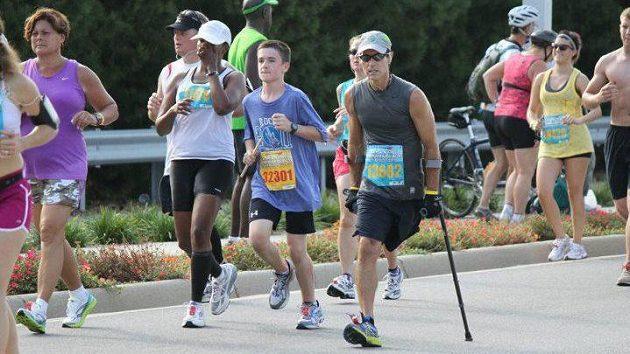 Larry Chloupek během závodu.