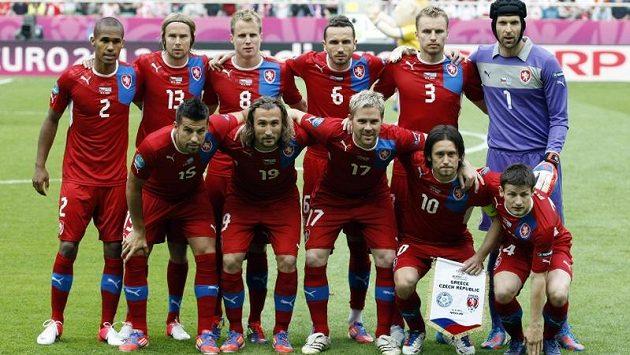 Základní jedenáctka české reprezentace před zápasem s Řeckem