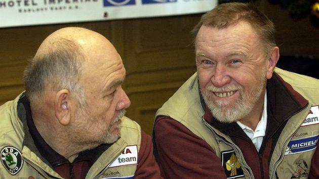 Josef Kalina (vpravo) ještě s Karlem Lopraisem.
