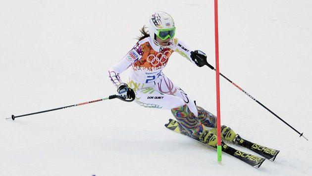 Šárka Strachová po prvním kole slalomu figuruje na 14. místě.