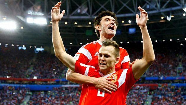 Fotbalisté Ruska jsou po výhře nad Egyptem krůček od postupu ze skupiny.